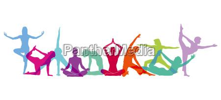 yoga figures composition