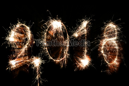 happy new year 2018 concept