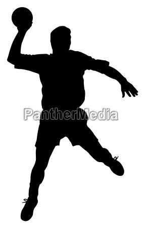 male handball player