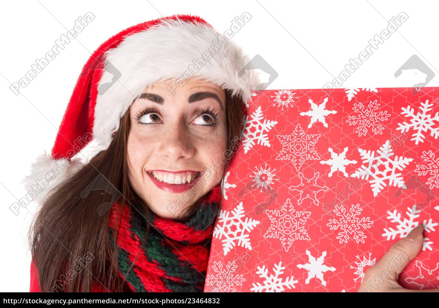 girl, in, christmas - 23464832