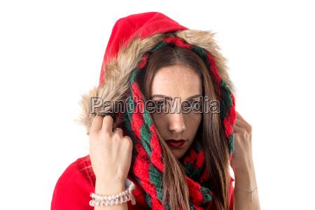 girl, in, christmas - 23464842