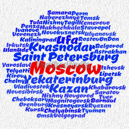 towns in russia word cloud