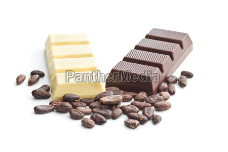 dark and white chocolate bar and