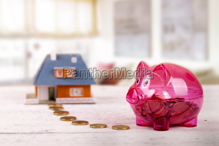 conceptual, shot, with, piggy, bank, and - 23467554