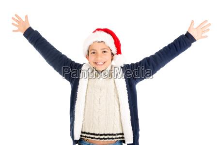 boy, with, santa's, hat - 23468230