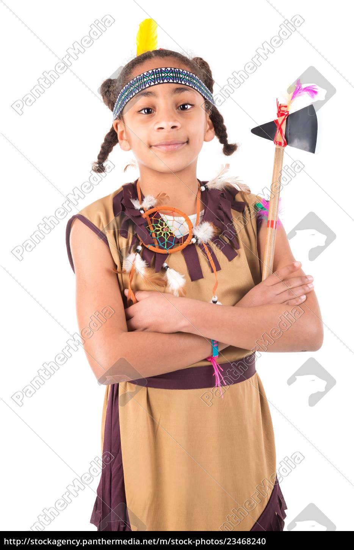 native, american, costume - 23468240