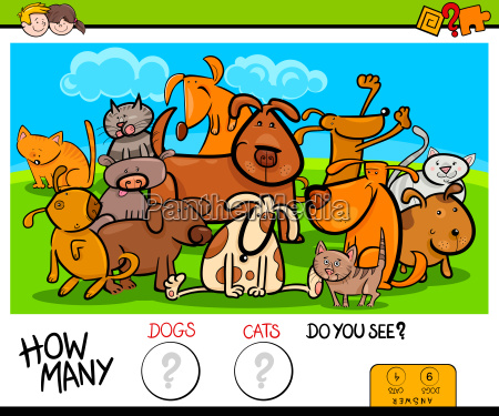 counting cats and dogs educational activity