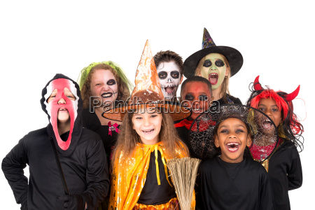 kids, in, halloween, costumes - 23472152