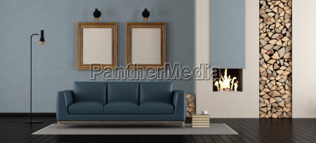 modern, living, room, with, fireplace - 23473832