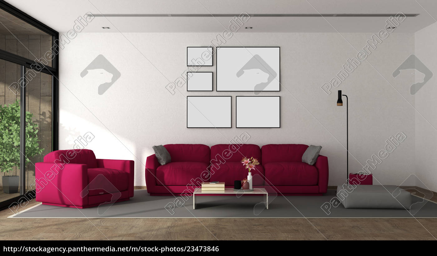 modern, lounge, with, furniture - 23473846