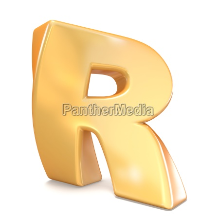 orange twisted font uppercase letter r