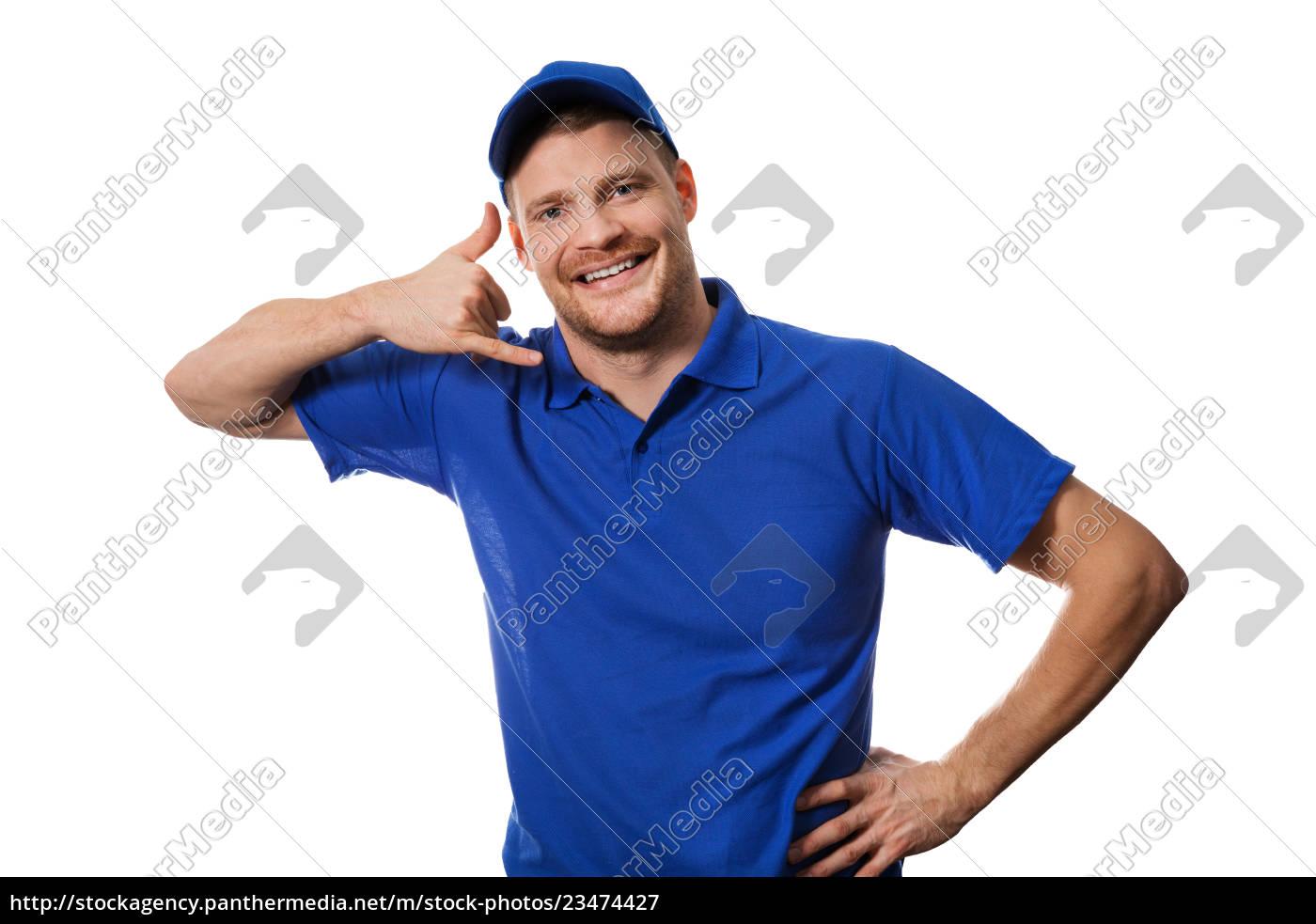 handyman, services, -, worker, in, blue - 23474427