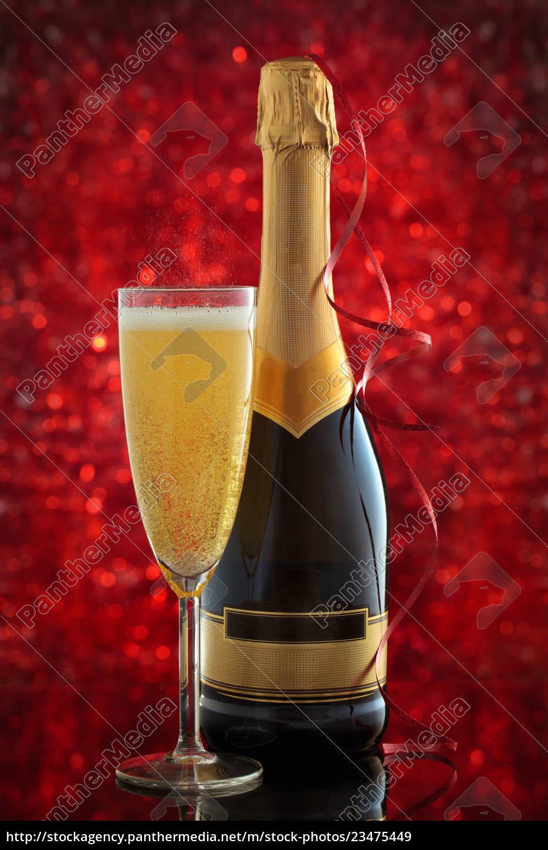 champagne, and, christmas, lights. - 23475449