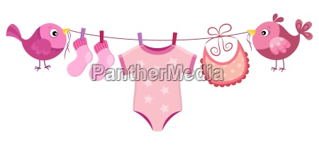 line with clothing for baby girl