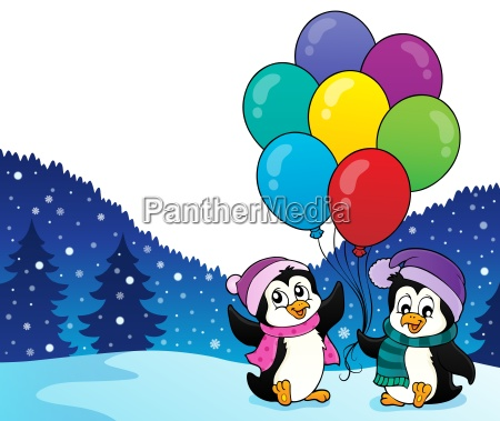 happy party penguins image 2