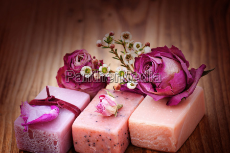still life with aroma soaps