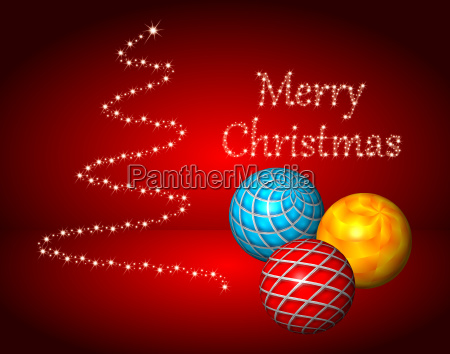 red christmas card merry christmas with