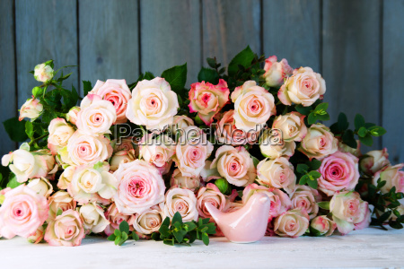 still life with many roses for