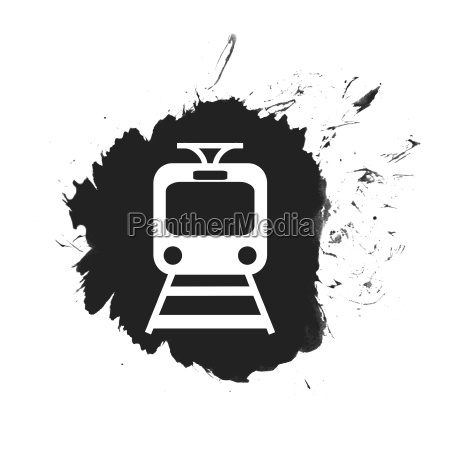 black color spot with train symbol
