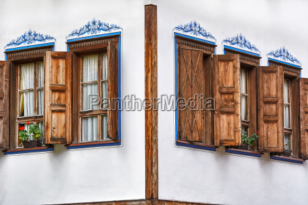 windows of an old house