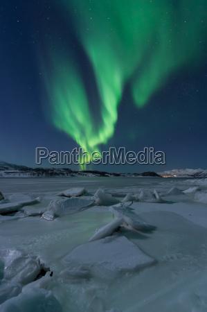 northern lights at tromsoe norway