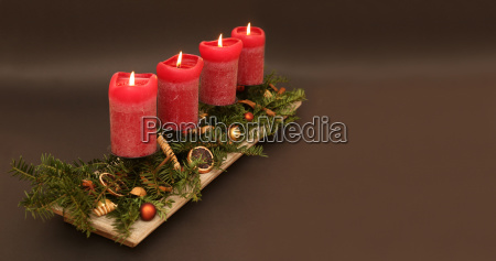 advent arrangement copyspace