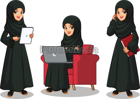 set of arab businesswoman in black