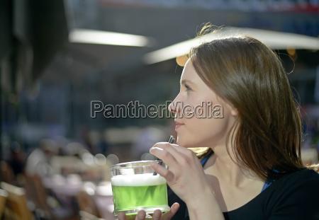woman drinks alcohol