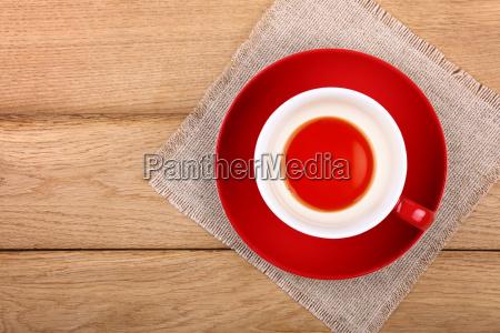 empty cup of black tea in