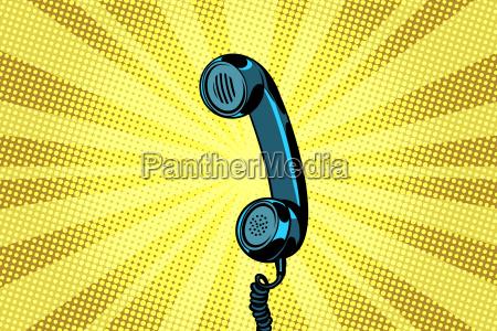 retro handset pop art background