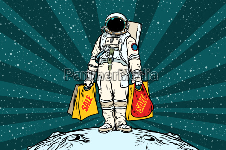 lone retro astronaut with a sale