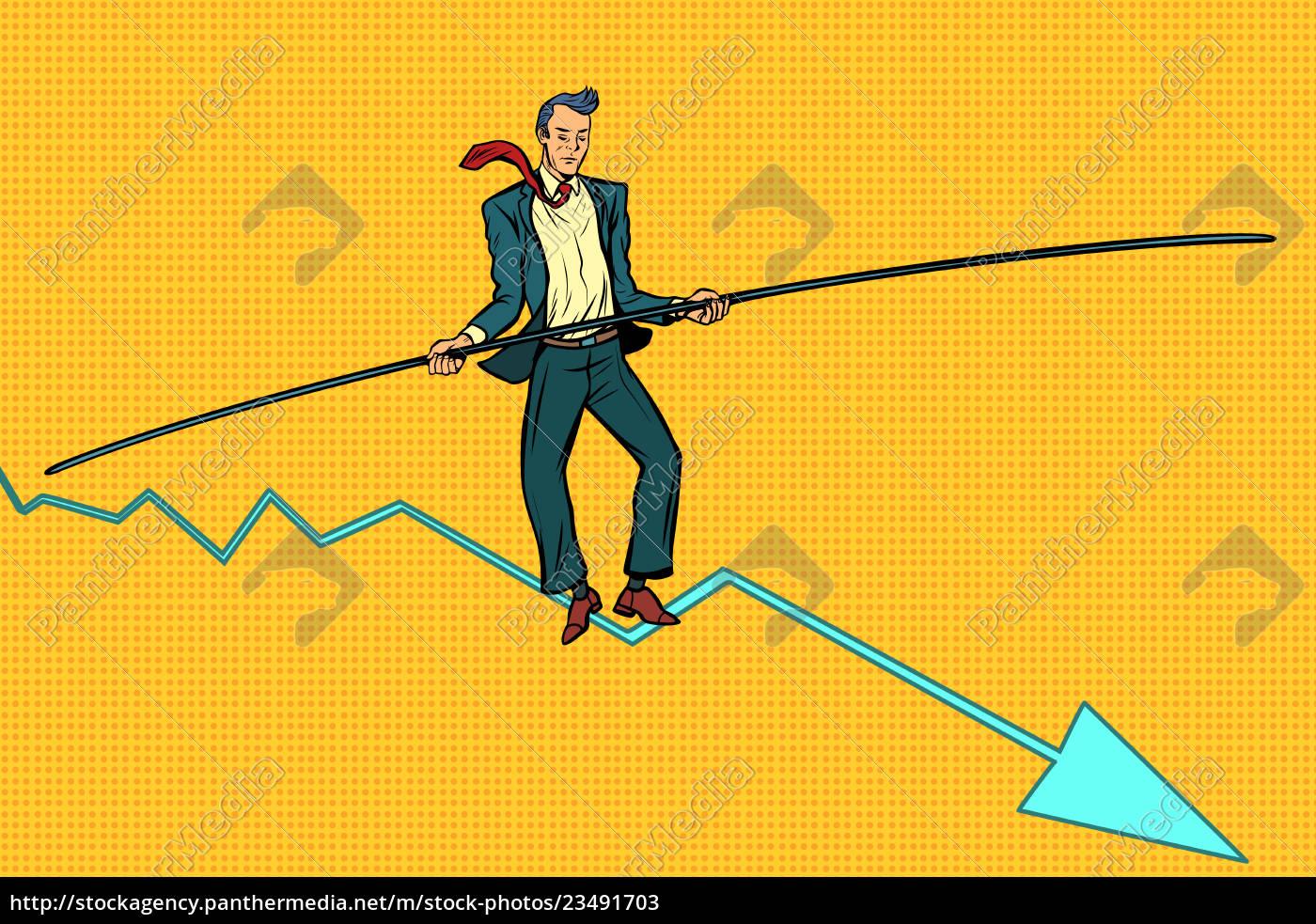 businessman, tightrope, walker - 23491703