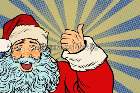 closeup, of, santa, claus, thumbs, up - 23491583