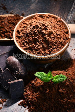 composition, with, bowl, of, cocoa, powder - 23492105