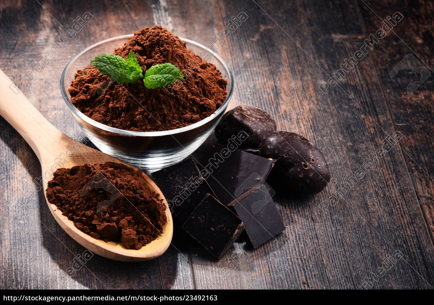 composition, with, bowl, of, cocoa, powder - 23492163