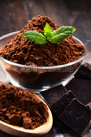 composition, with, bowl, of, cocoa, powder - 23492169