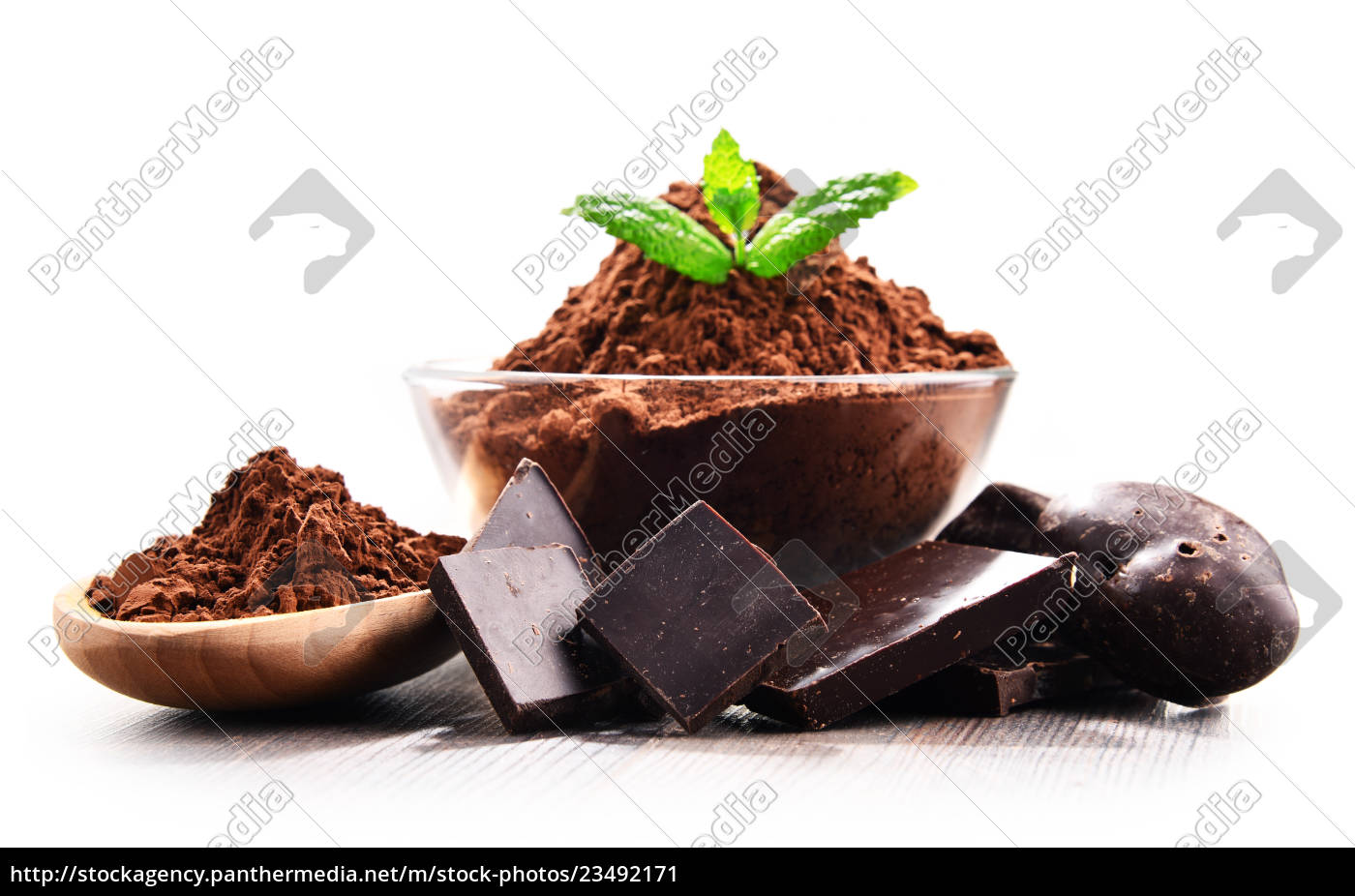 composition, with, bowl, of, cocoa, powder - 23492171
