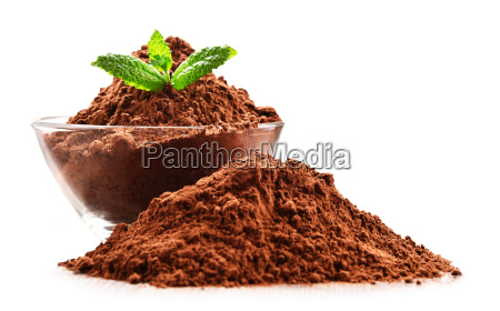 composition, with, bowl, of, cocoa, powder - 23492175