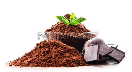 composition, with, bowl, of, cocoa, powder - 23492177