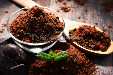 composition, with, bowl, of, cocoa, powder - 23492183