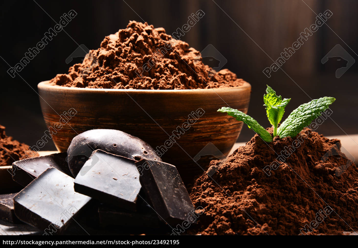 composition, with, bowl, of, cocoa, powder - 23492195