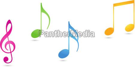 music sheet music clef logo sound