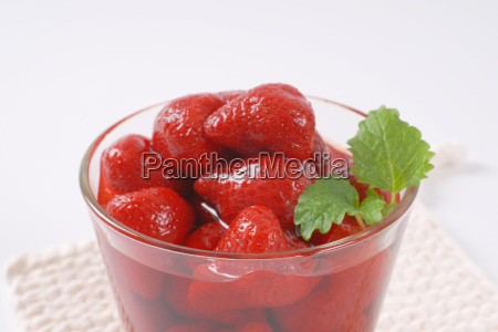 glass of strawberry compote