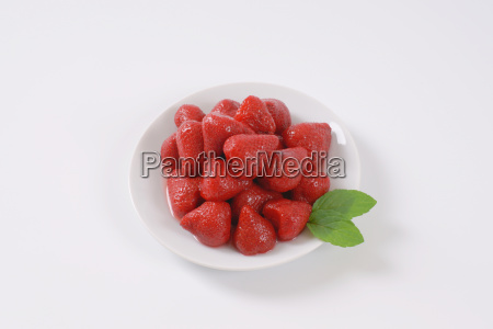 plate of strawberry compote