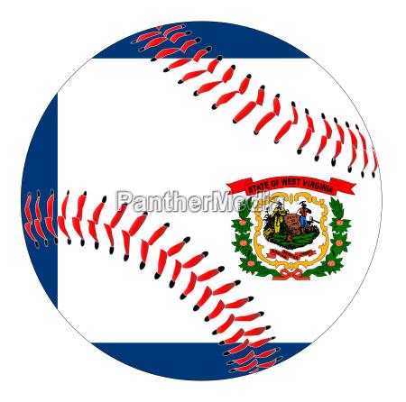 west virginia flag baseball