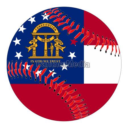 georgia flag baseball