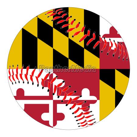 maryland flag baseball