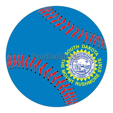 south dakota flag baseball