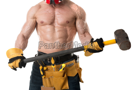 powerful, construction, worker - 23507660