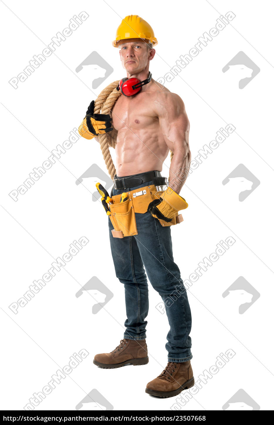 powerful, construction, worker - 23507668